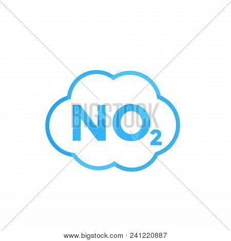 No2 Icon, Nitrogen Dioxide, Eps 10 File, Easy To Edit