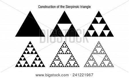 Construction Of The Sierpinski Triangle. It Is A Fractal With The Overall Shape Of An Equilateral Tr