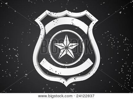 Vector Security badge on black background