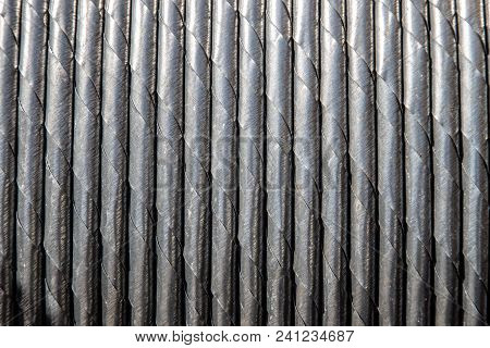 Coiled Steel Steel Wire Rope, Close-up Background