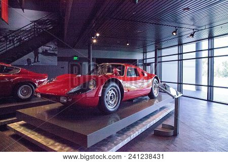 Naples, Florida, Usa - May 5, 2018:  Red 1964 Porsche 904 Carrera Gts Displayed At The Revs Institut