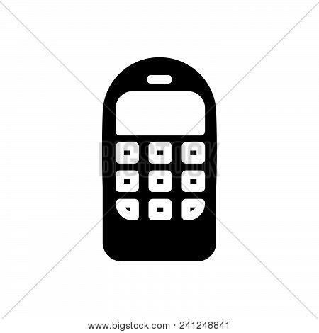 Old Mobile Phone Vector Icon On White Background. Old Mobile Phone Modern Icon For Graphic And Web D