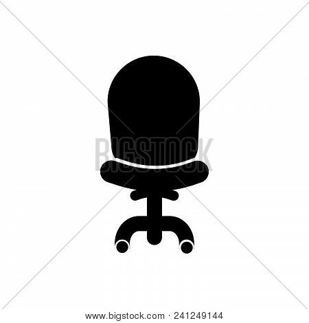 Office Chair Vector Icon On White Background. Office Chair Modern Icon For Graphic And Web Design. O