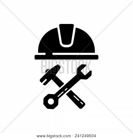 Construction Worker Vector Icon On White Background. Construction Worker Modern Icon For Graphic And