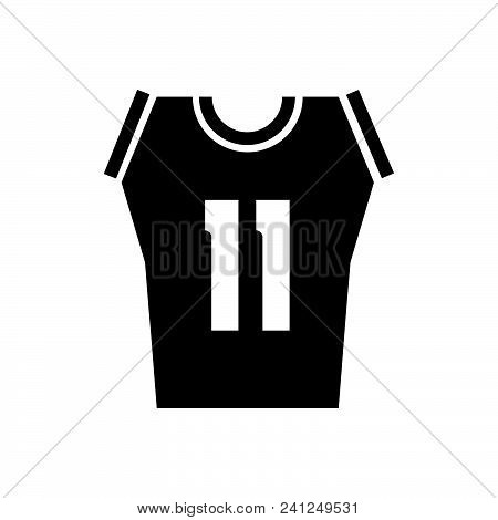 Basketball Shirt Vector Icon On White Background. Basketball Shirt Modern Icon For Graphic And Web D