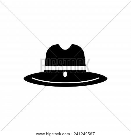 Cowboy Hat Vector Icon On White Background. Cowboy Hat Modern Icon For Graphic And Web Design. Cowbo