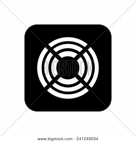 Cooling Fan Vector Icon On White Background. Cooling Fan Modern Icon For Graphic And Web Design. Coo