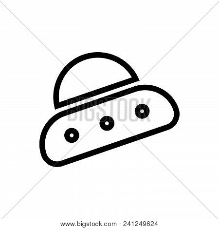 Alien Ship Vector Icon On White Background. Alien Ship Modern Icon For Graphic And Web Design. Alien