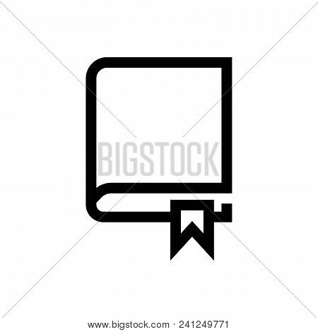 Encyclopedia Vector Icon On White Background. Encyclopedia Modern Icon For Graphic And Web Design. E