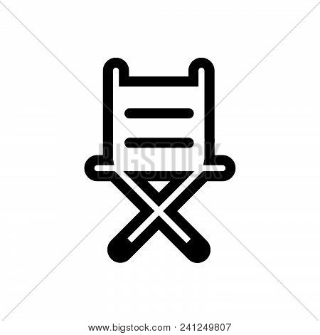 Chair Vector Icon On White Background. Chair Modern Icon For Graphic And Web Design. Chair Icon Sign