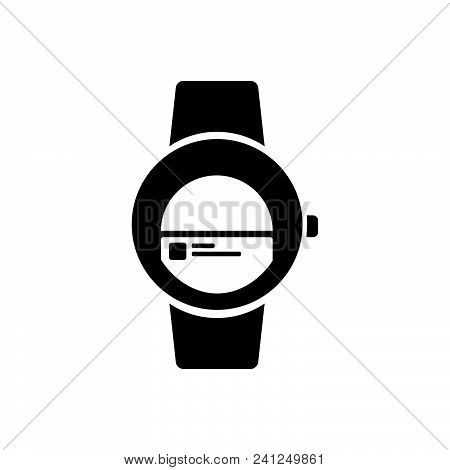 Smart Watch Vector Icon On White Background. Smart Watch Modern Icon For Graphic And Web Design. Sma