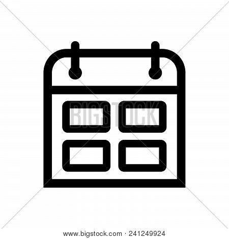 Calendar Outlined Symbol Of Timetable, Calendar Vector Icon, Calendar Image Jpg, Calendar Vector Eps