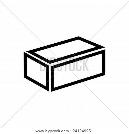 Brick Vector Icon On White Background. Brick Modern Icon For Graphic And Web Design. Brick Icon Sign