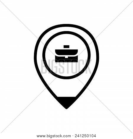 Job Location Outlined Symbol Of Work Place,  Job Location Vector Icon,  Job Location Image Jpg