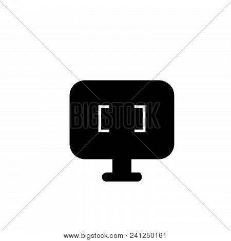 Computer Screen Vector Icon On White Background. Computer Screen Modern Icon For Graphic And Web Des