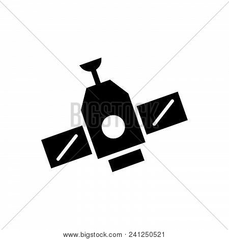 Space Station Vector Icon On White Background. Space Station Modern Icon For Graphic And Web Design.