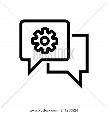 Chat Settings Vector Icon On White Background. Chat Settings Modern Icon For Graphic And Web Design.