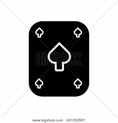 Playing Card Vector Icon On White Background. Playing Card Modern Icon For Graphic And Web Design. P