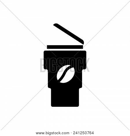 Take Away Coffee Vector Icon On White Background. Take Away Coffee Modern Icon For Graphic And Web D