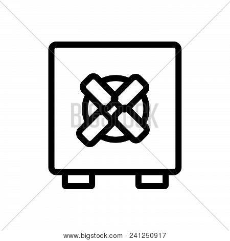 Safe Outlined Symbol Of Safe Deposit, Safe Vector Icon, Safe Image Jpg