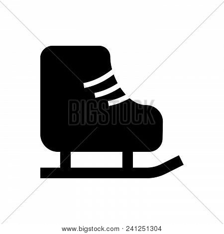 Ice Skates Vector Icon On White Background. Ice Skates Modern Icon For Graphic And Web Design. Ice S