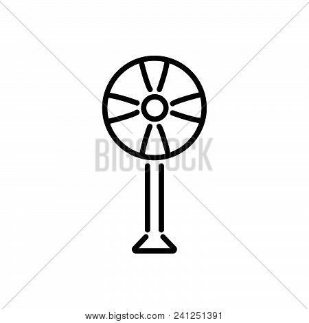 Fan Outlined Symbol Of Air Colooler. Fan Icon Vector, Fan Image Jpg