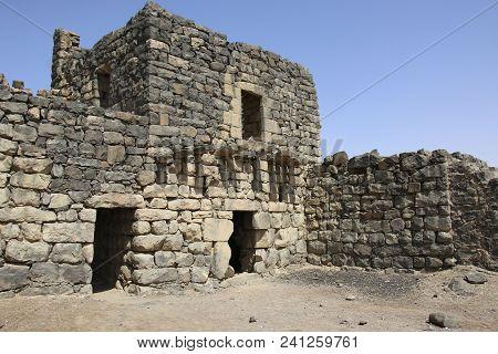 Qasr Al-azraq Is One Of The Desert Castles In The East Of Jordan