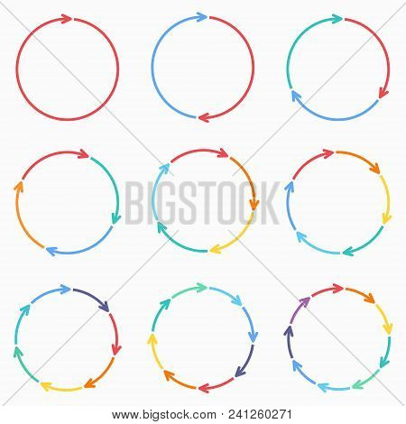 Vector Circle Arrows For Infographic. Template For Diagram, Graph, Presentation And Chart. Business