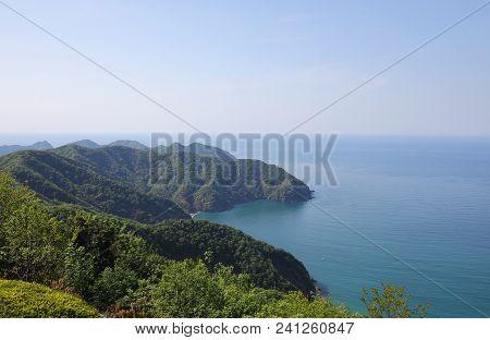 Japan Sea Coastline In Tsuruga Bay Fukui Japan