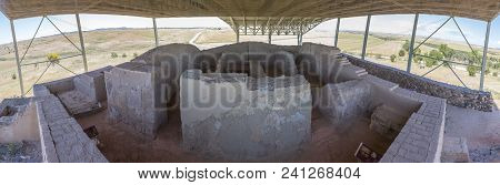 La Mata, Tartessian Aristocratic Building. Interior Room Plant. Extremadura, Spain