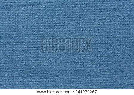 Impressively Contrast Blue Fabric Texture. High Resolution Photo.