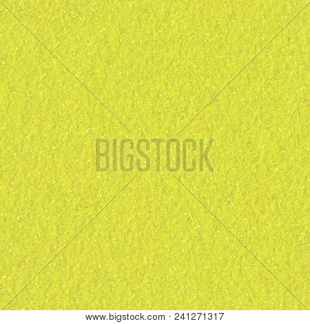Abstract Yellow Glitter Background. Low Contrast Photo. Seamless Square Texture. Tile Ready.