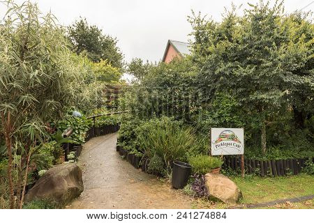 Boston, South Africa - March 23, 2018: The Entrance To The Picklepot Cafe Near Boston In The Kwazulu