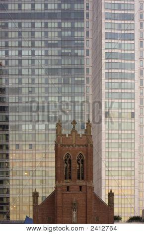 Church And Skyscraper In San Francisco