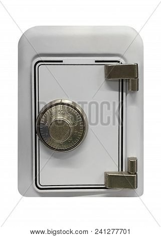 Image Of Metal Safe Isolated On White Background