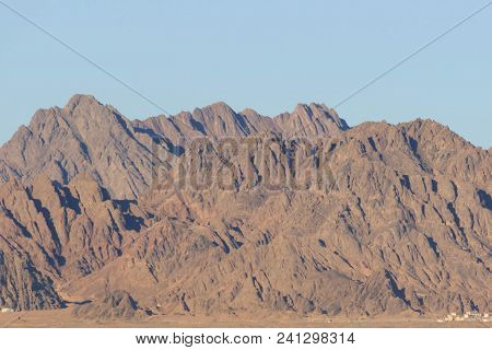 Egypt, Sinai, Mount Moses. Road On Which Pilgrims Climb The Mountain Of Moses