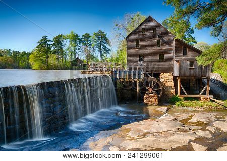 Historic Yates Water Mill In Raleigh, North Carolina