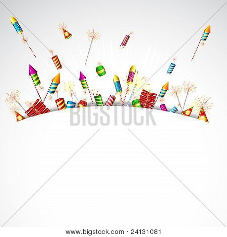 firecrakers popping in abstract background