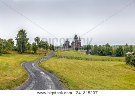 Historical Site Dating From The 17th Century On Kizhi Island, Russia.