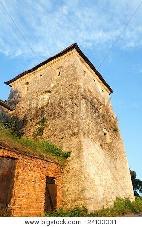 Summer Evening Svirzh Castle Tower View (ukraine).
