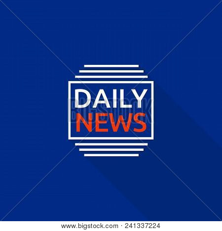 New Daily News Logo. Flat Illustration Of New Daily News Vector Logo For Web Design