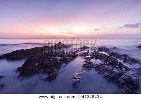 Long Exposure Landscape On The Sea , Thailand