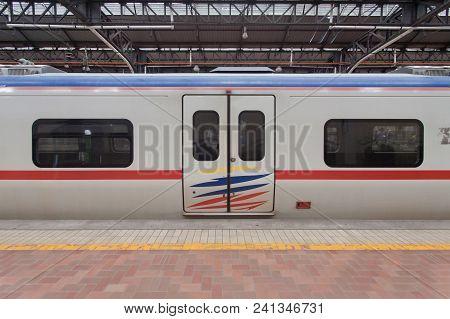 Malaysia Train Door And Windows At Kuala Lumpur, Malaysia