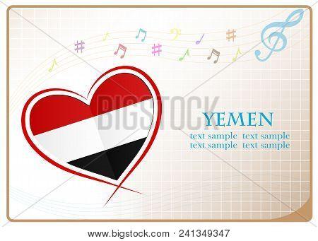 Heart Logo Made From The Flag Of Yemen