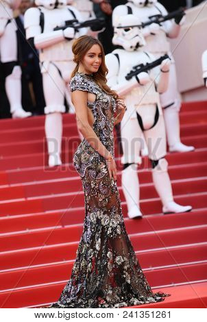 Nabilla Benattia attends the screening of 'Solo: A Star Wars Story' during the 71st Cannes Film Festival at Palais des Festivals on May 15, 2018 in Cannes, France.