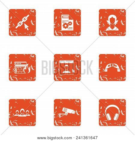 Remedy Icons Set. Grunge Set Of 9 Remedy Vector Icons For Web Isolated On White Background