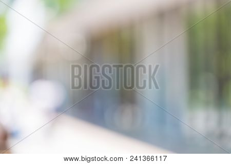 Blur Background,business Area Outside Building At Convention Hall, Office Building Hall Way Backgrou