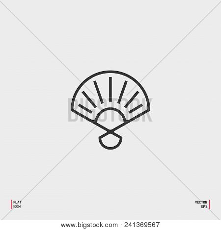 Hand Fan, Open And Closed, Spanish Style, Three Dimensional Realistic. Isolated Vector Illustration