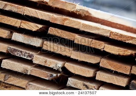 Pile Of Planks Closeup