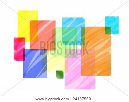Abstract Geometric Colorful Background. Minimalist Backdrop For Office Stationery. Business Cover Or